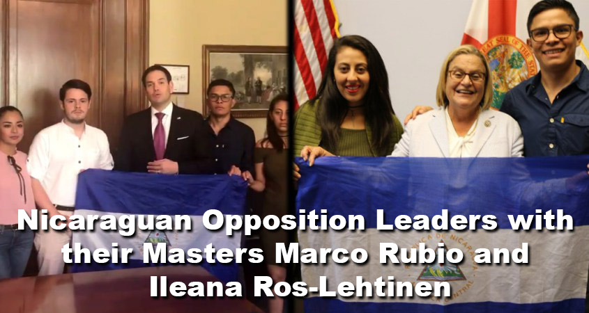 Nicaraguan Opposition Leaders with Rubio