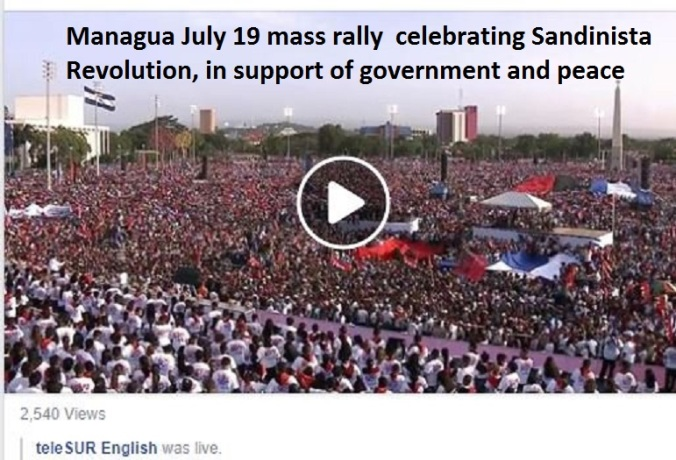 Image result for managua rally july 19