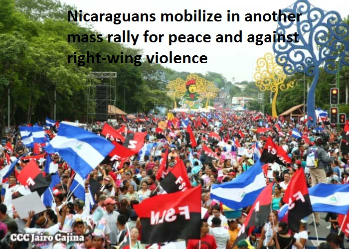 Managua marches for peace July 2018