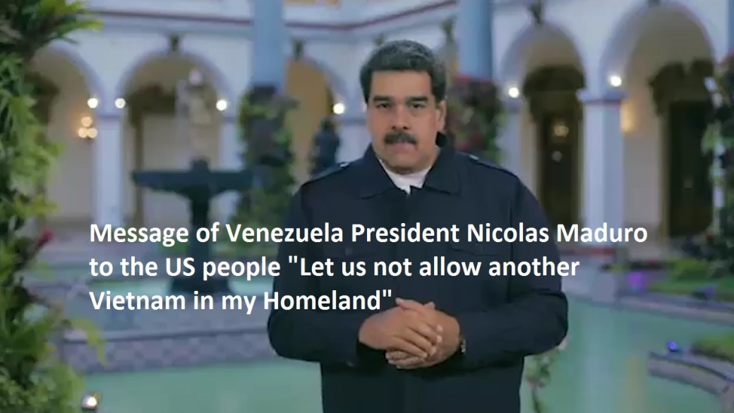 Maduro to the US people