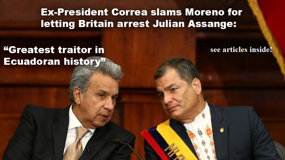 Correa Lenin Moreno words